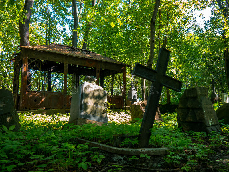 古老墓地 库存照片