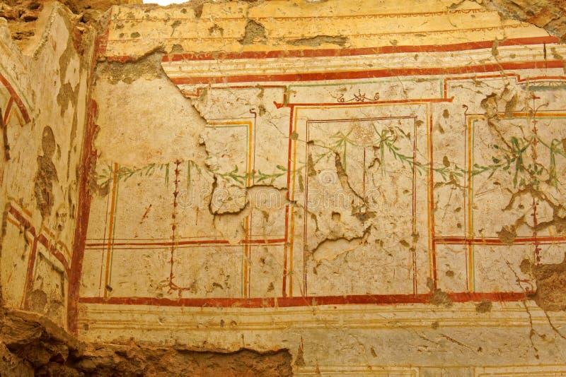 古老墙壁装饰 库存图片