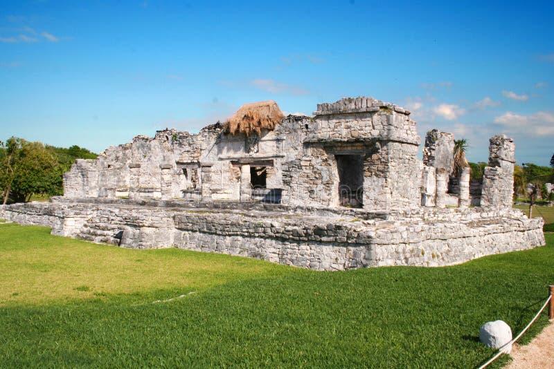 古老墨西哥破坏tulum 库存图片