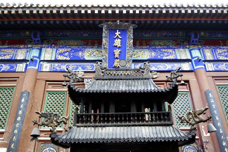 古老大厅寺庙 图库摄影