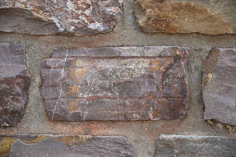 古老大厦的石墙 免版税库存照片
