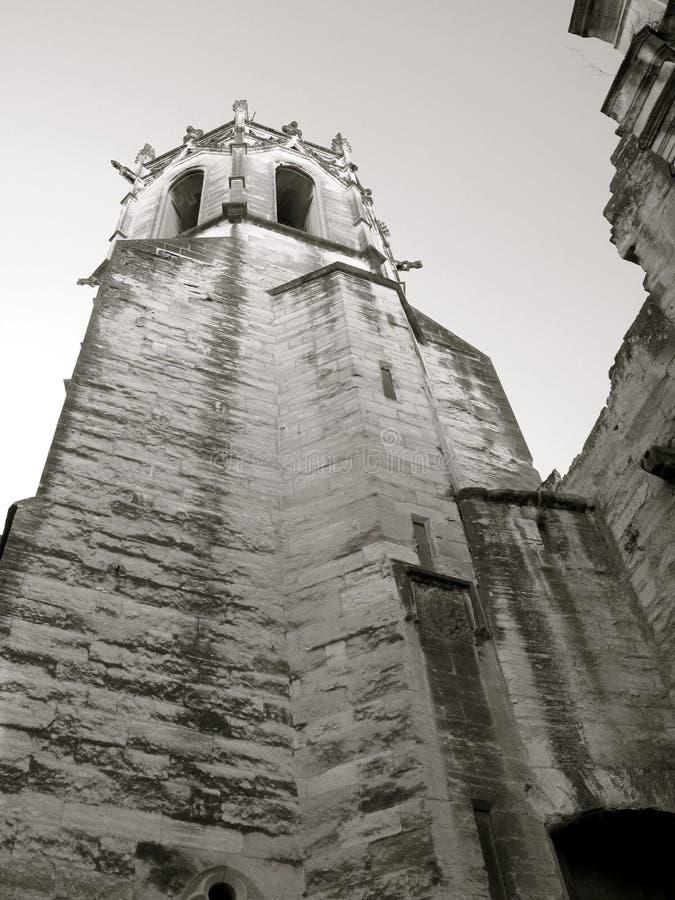 古老大教堂塔 库存图片