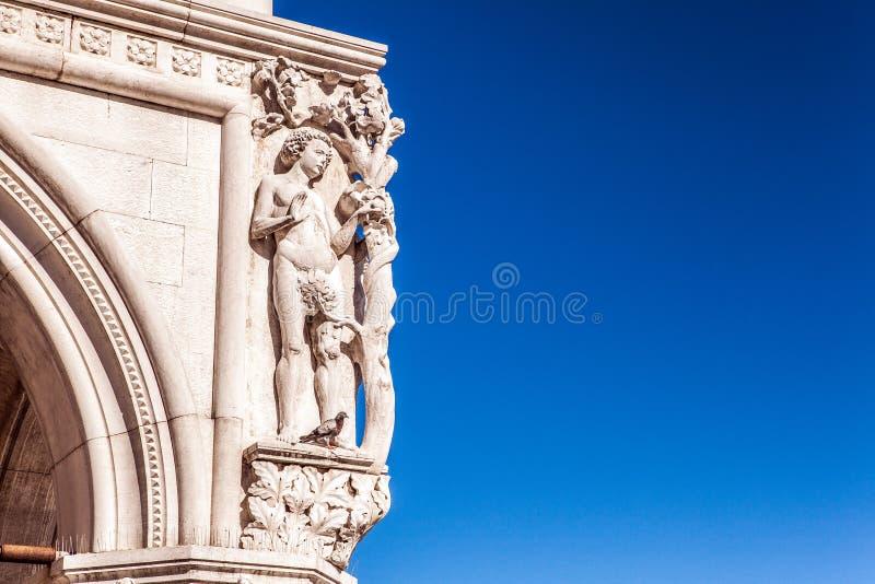 古老威尼斯式曲拱特写镜头 图库摄影