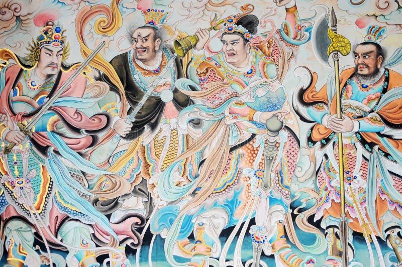 古老宗教绘画 免版税库存图片