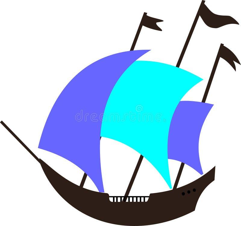古老小船 皇族释放例证