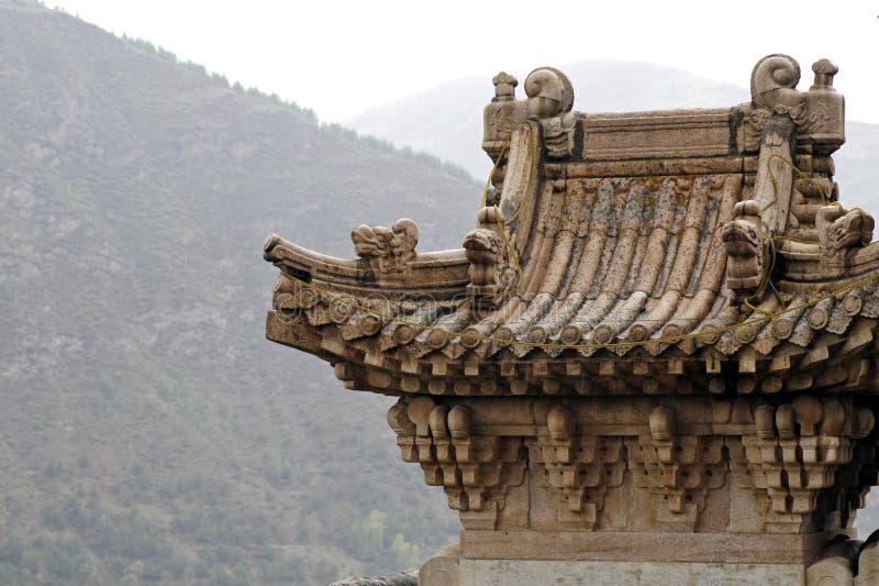 古老山寺庙 免版税库存照片