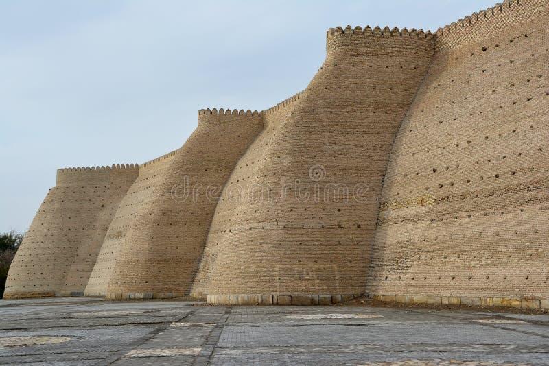 古老布哈拉城市墙壁  免版税库存照片
