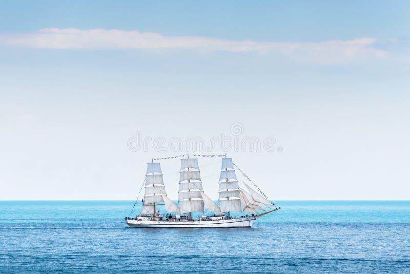 古老帆船Chersonese在海 免版税库存照片