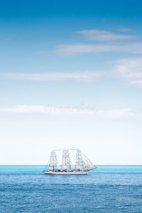 古老帆船Chersonese在海 库存图片