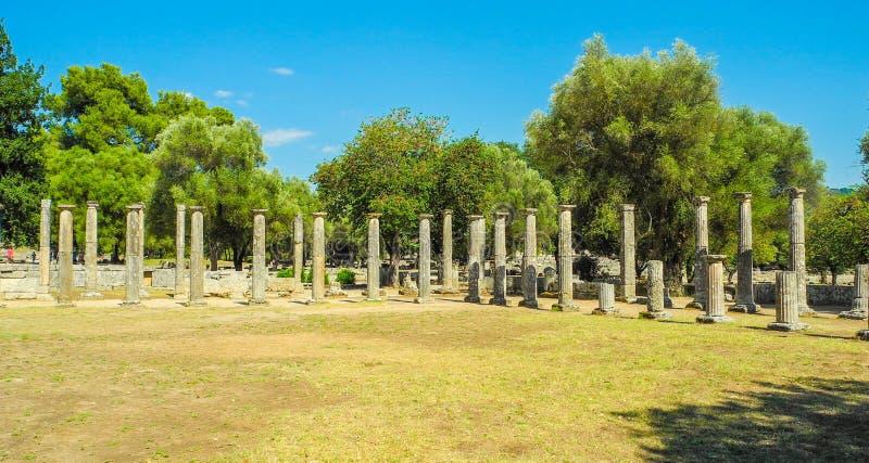 古老希腊奥林匹亚 免版税库存照片