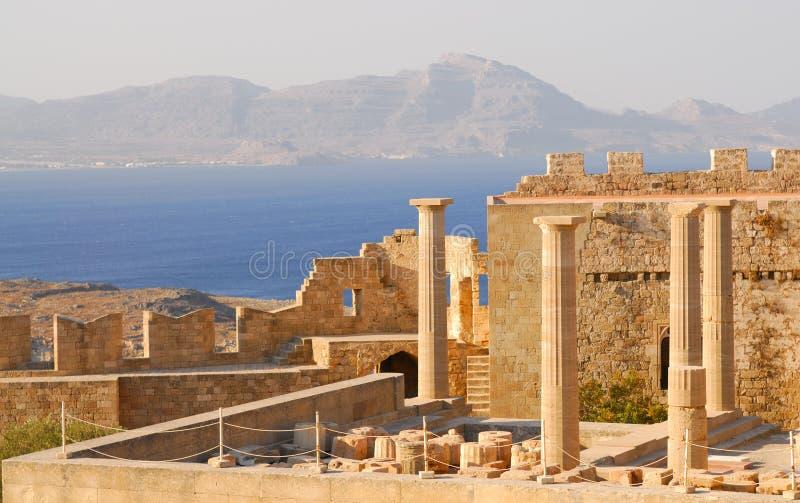古老希腊破庙 库存照片