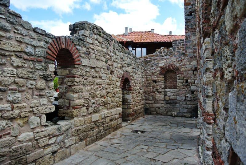 古老废墟在保加利亚 免版税库存图片