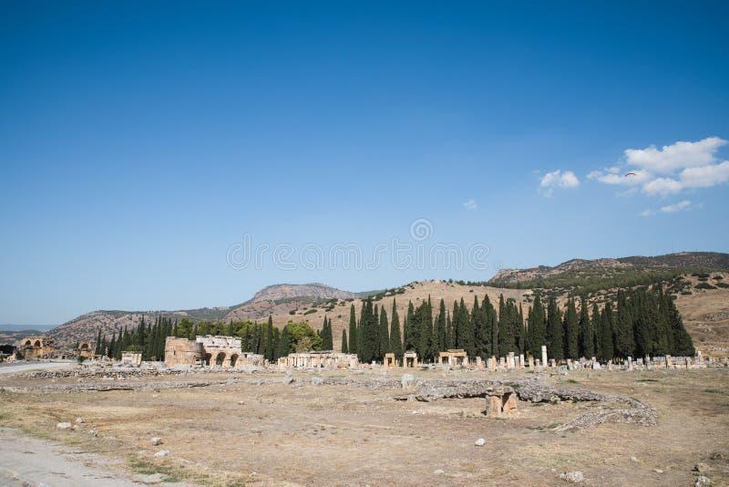 古老废墟壮观的看法在著名的 免版税库存照片