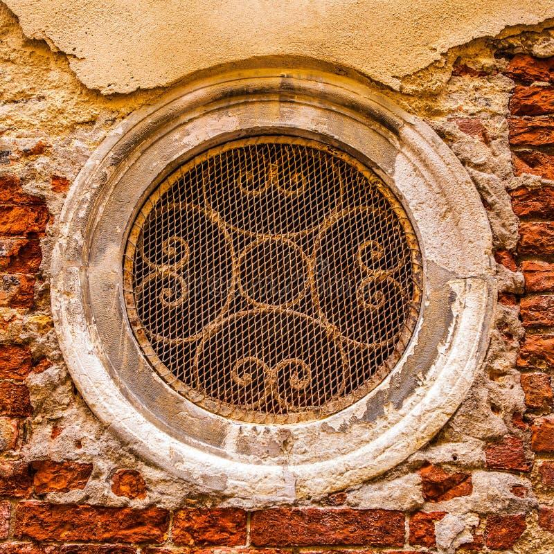 古老意大利传统窗口 库存照片