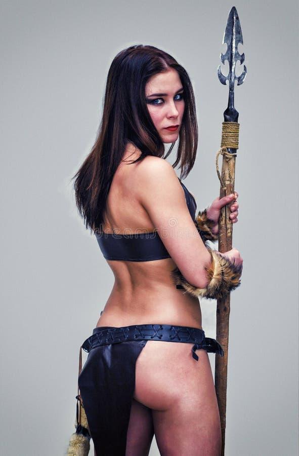 古老战士的女孩 免版税图库摄影