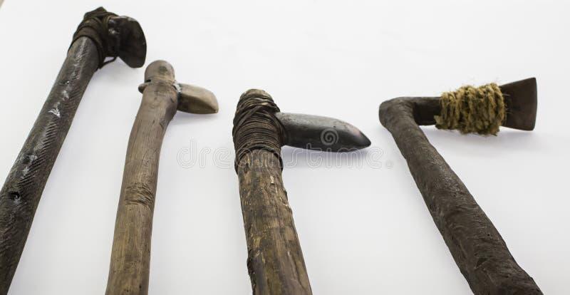 古老手工制造史前武器 库存照片