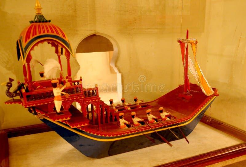 古老手工船模 免版税图库摄影