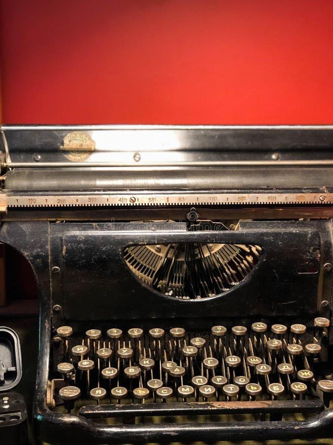 古老打字机 免版税库存图片