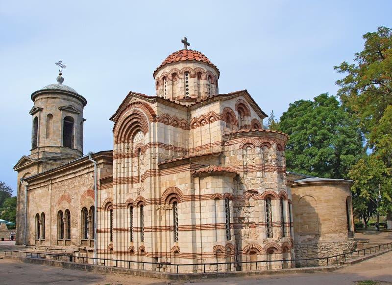 古老拜占庭式的教会克里米亚kerch乌克Ð 库存图片