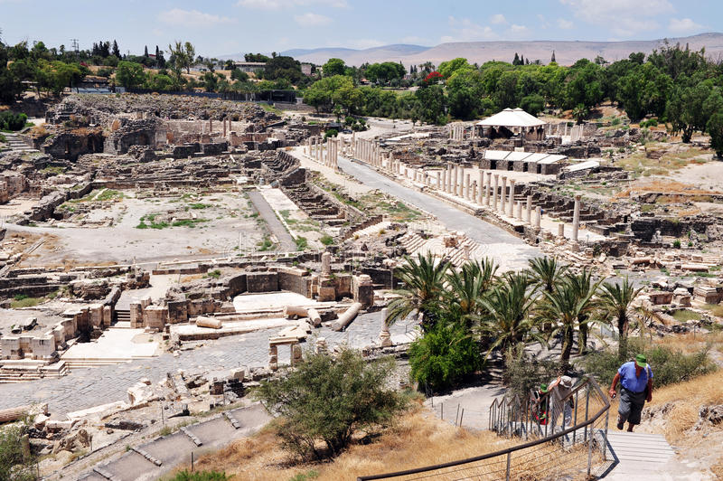 古老拜特Shean -以色列 库存图片