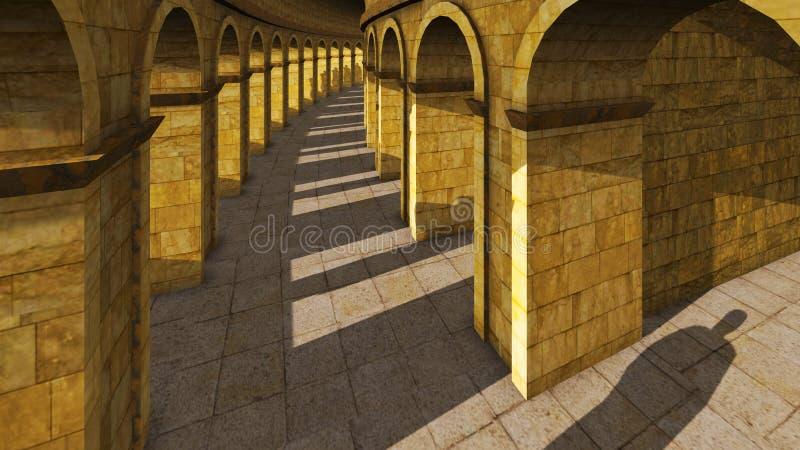 古老拱道 皇族释放例证