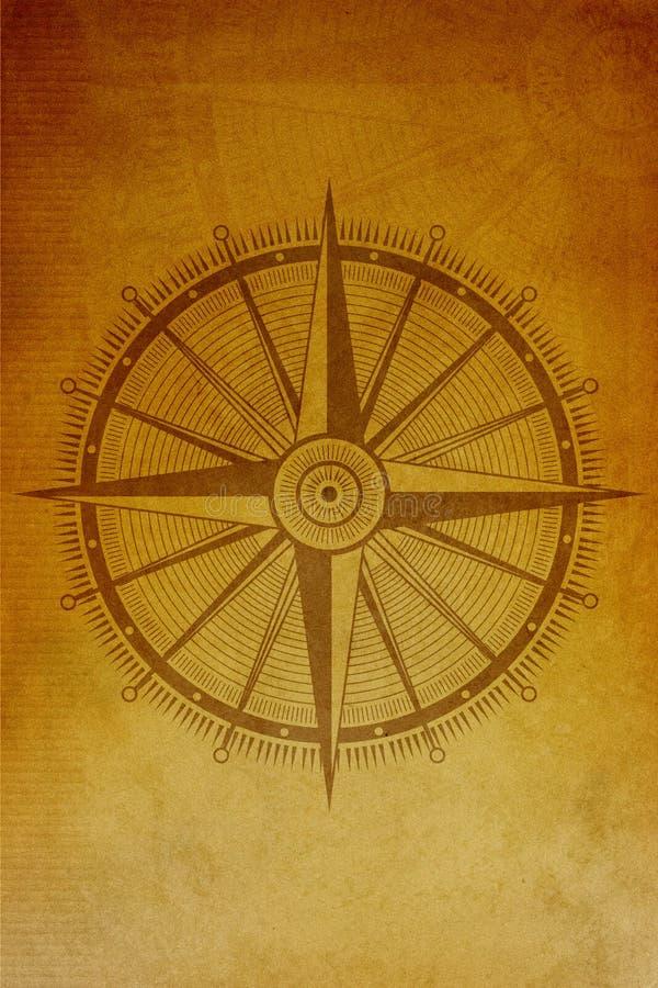 古老指南针背景 图库摄影