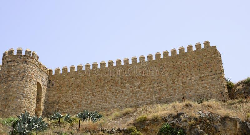 古老摩尔人墙壁 库存照片