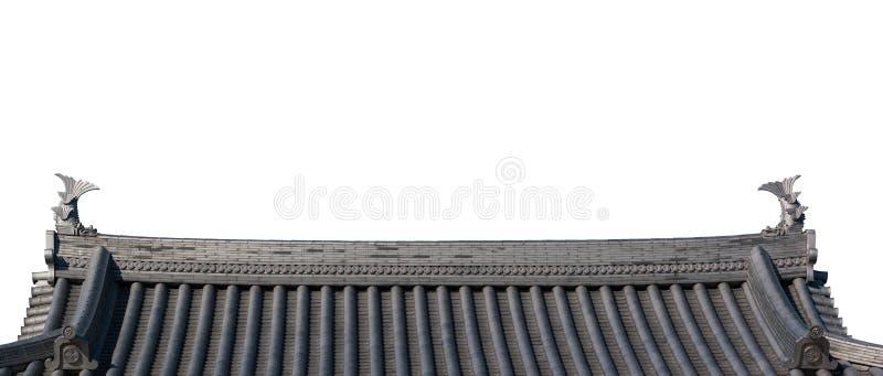 古老日本大厦传统屋顶  免版税库存图片