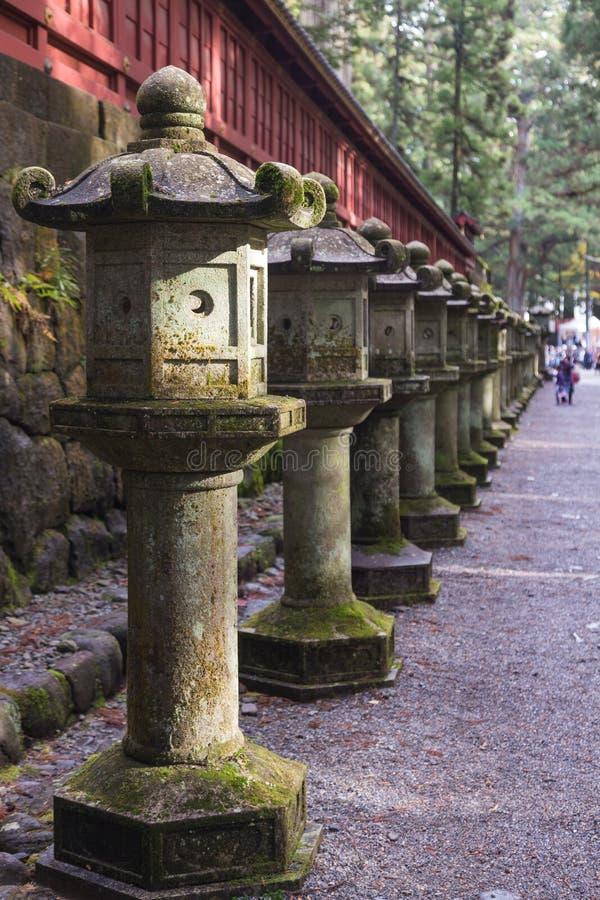古老日本石灯笼 库存照片