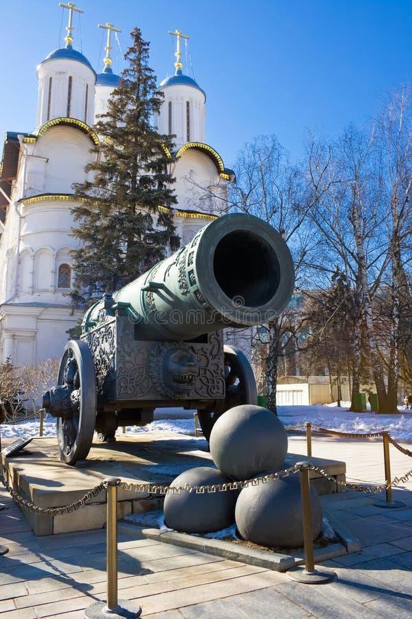 古老最大的大炮 免版税库存图片