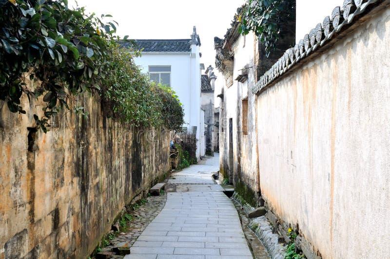 古老村庄平山村庄在中国 免版税库存图片