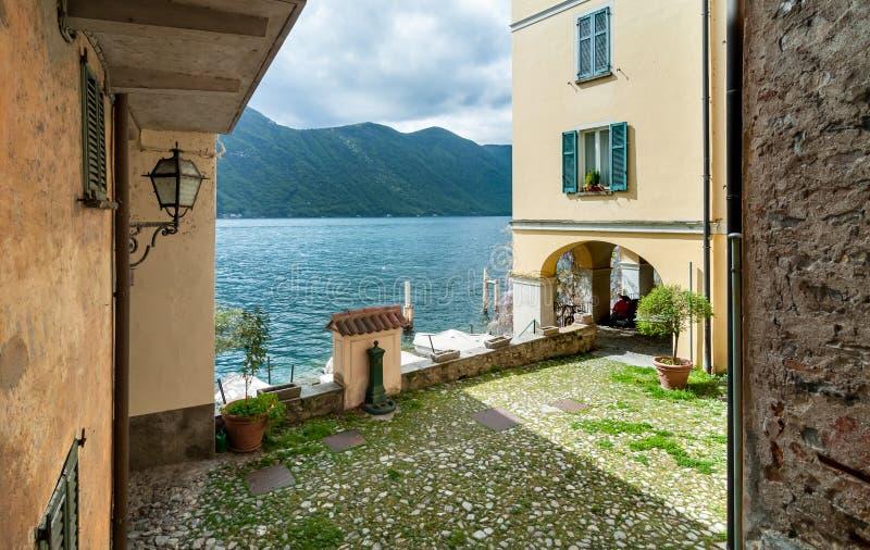 古老村庄Albogasio Oria,是瓦尔索尔达的自治市的一部分,科莫湖省的,伦巴第,意大利 免版税图库摄影