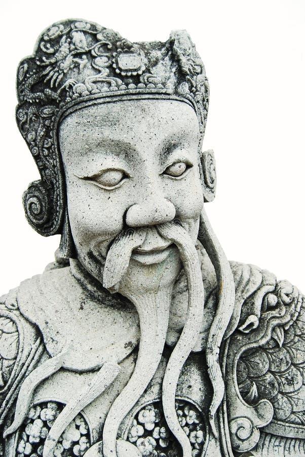 古老查出的阁下雕象石头 库存图片