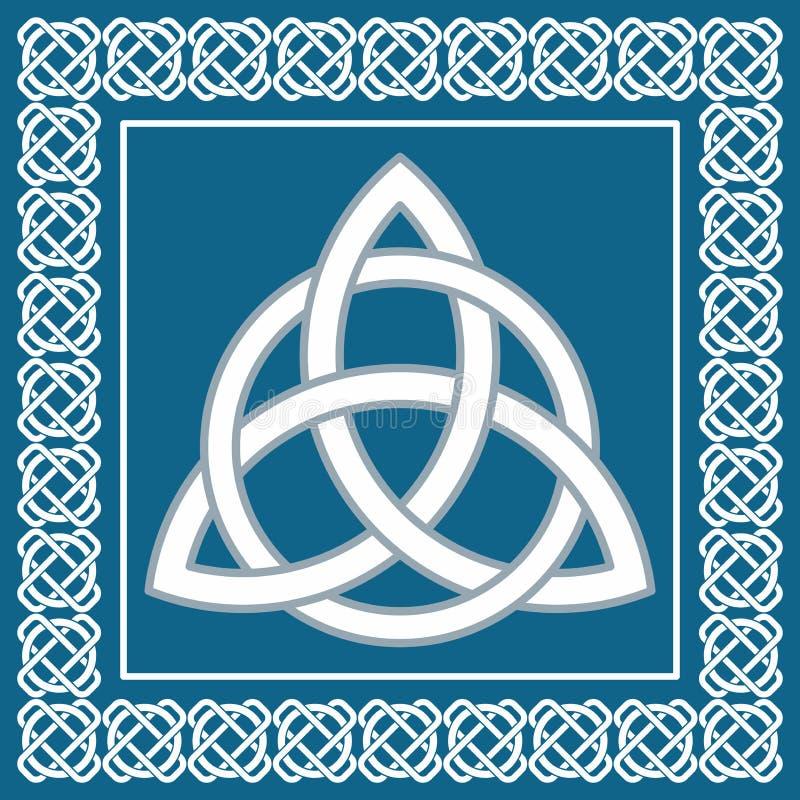 古老标志triskel,传统凯尔特元素,传染媒介 向量例证