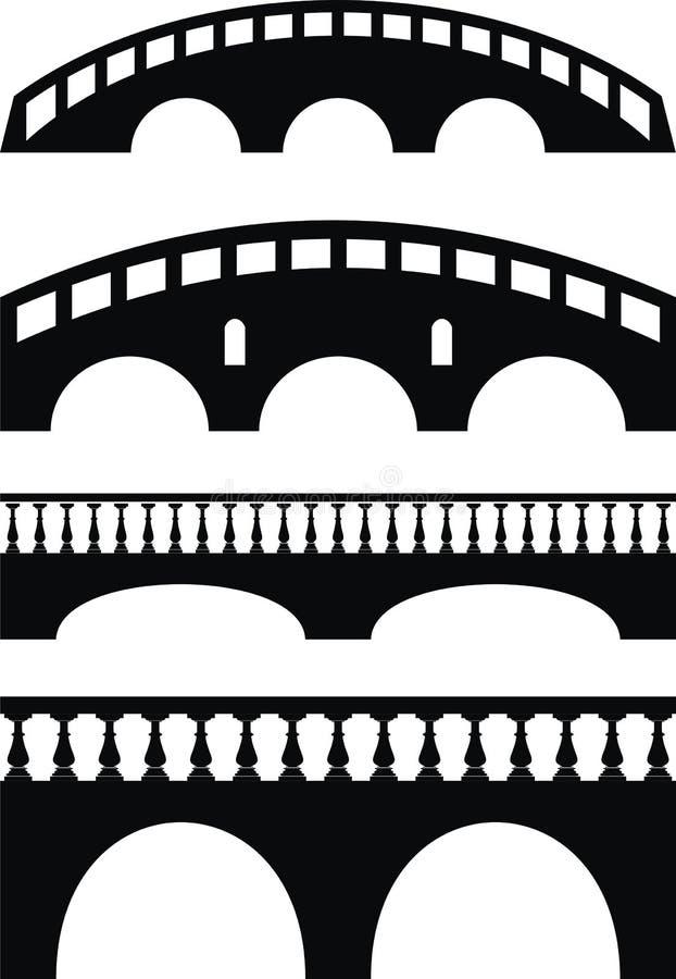 古老楼梯栏杆桥梁石头 皇族释放例证