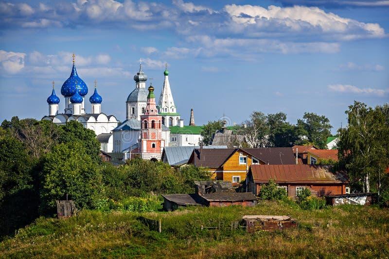 古老正统修道院。俄罗斯。 免版税库存照片