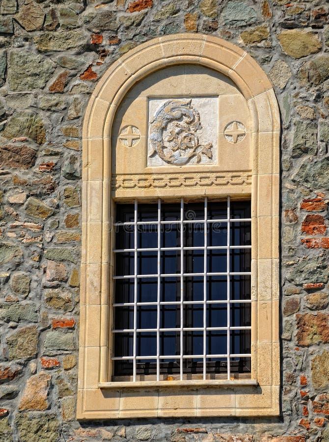 古老正统修道院Kykkos的窗口 免版税库存图片