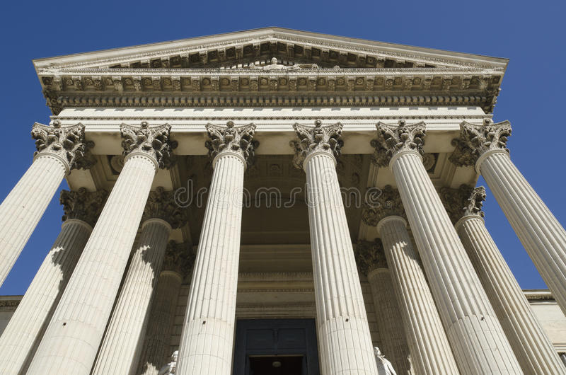 古老法院大楼 免版税库存照片