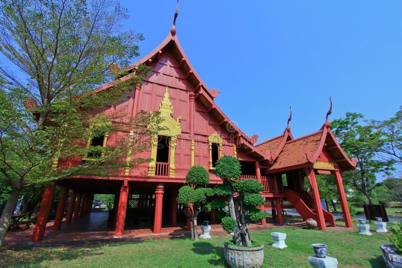 古老泰国房子 免版税图库摄影