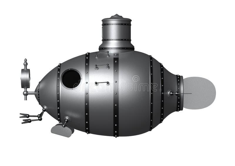 古老潜水艇 皇族释放例证