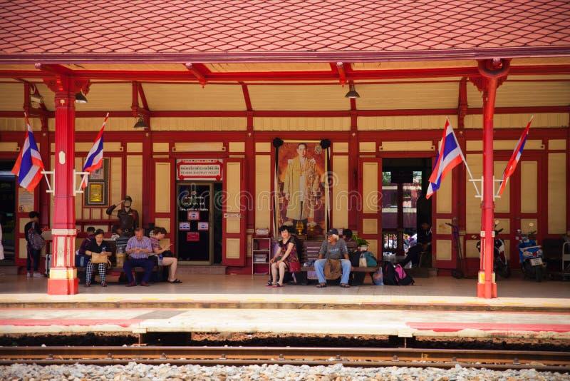 古老火车站在泰国的华hin 库存照片