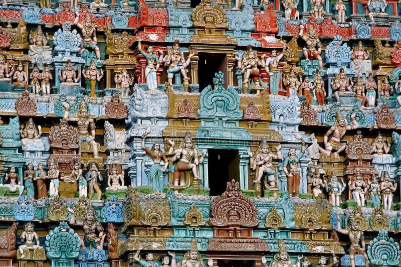 古老特写镜头印度印度寺庙 免版税库存图片