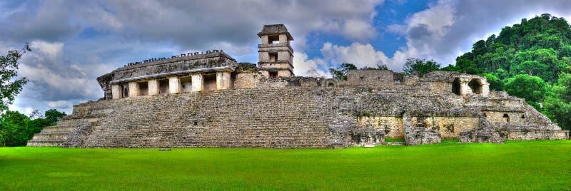 古老玛雅人墨西哥palenque寺庙 免版税库存照片