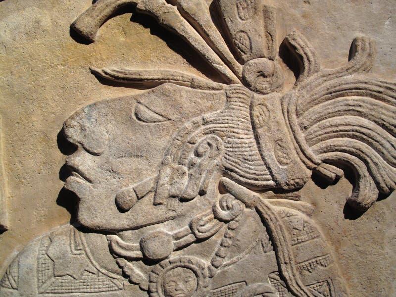 古老玛雅人楣石 库存照片