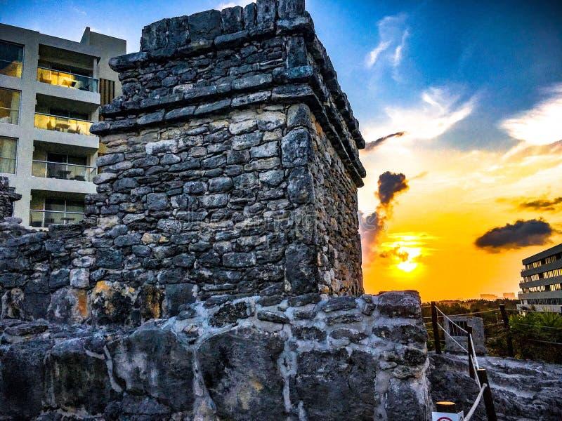 古老玛雅废墟 免版税图库摄影