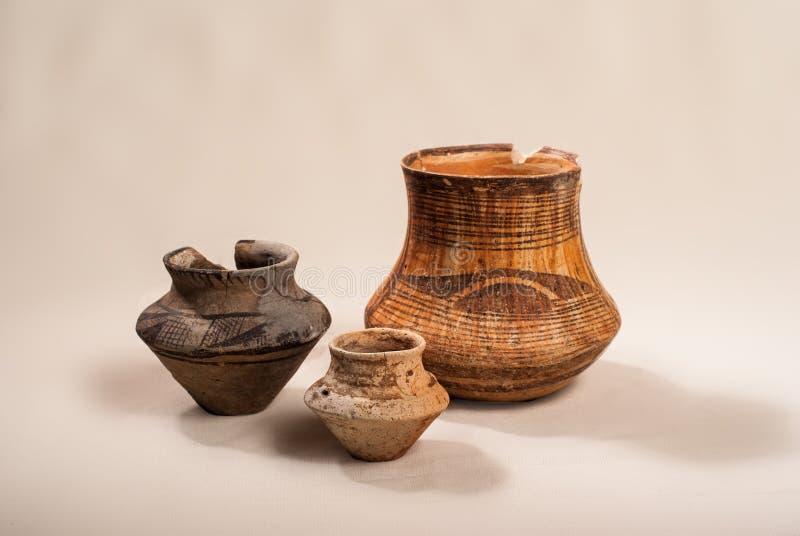 古老瓦器文化Cucuteni 库存图片