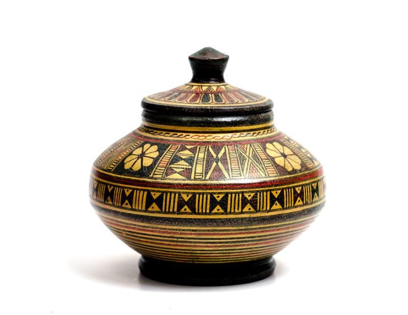 古老瓦器800 BC 免版税库存照片
