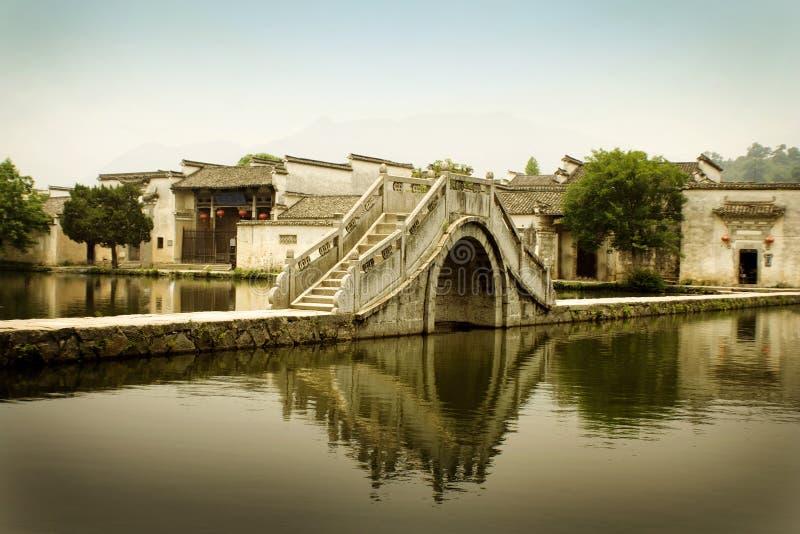 古老瓷中国hongcun南村庄 库存照片