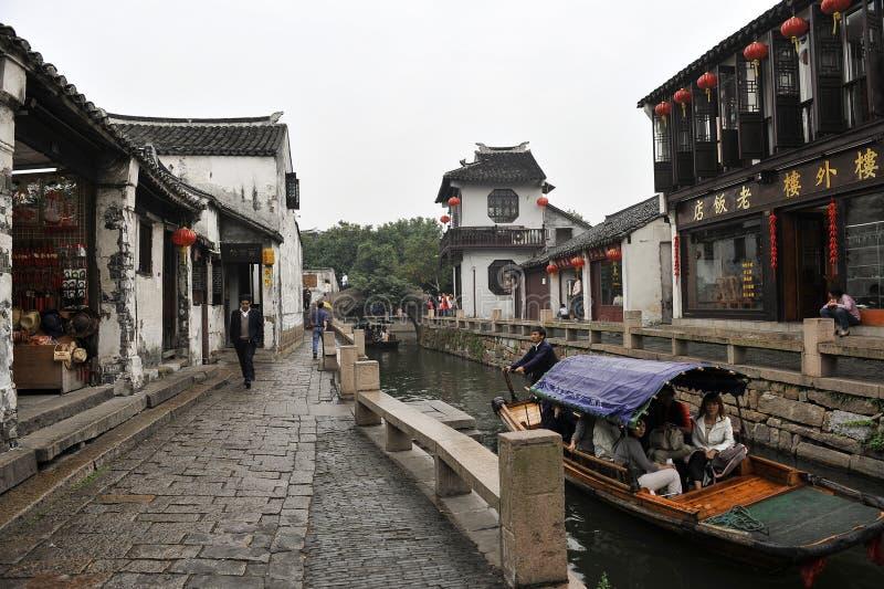 古老瓷旅游业城镇水zhouzhuang 免版税图库摄影