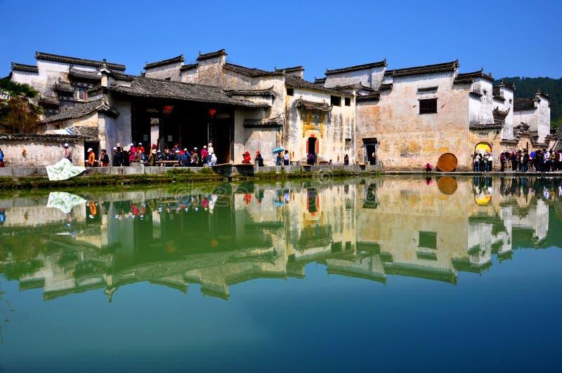 古老瓷hongcun村庄 库存照片
